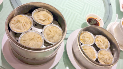 Shanghai Soup Dumplings. Dim sum at King Hua Restaurant in Alhambra, a mixture of push carts and being able to order off the menu for the best of both worlds in dim sum eating adventures in Los Angeles