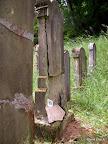 """Gemeinde Mühlhausen OPf. OT Sulzbürg, Jüdischer Friedhof, Konservierung der Grabmäler 2003/10, Fachbauleitung, Muster """"Vorzustand G 099"""""""