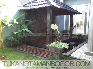 Tukang Gazebo Murah - Gambar Gazebo Minimalis Sandaran Dinding