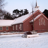 kerk in sneeuw