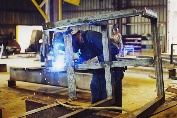 Angle Iron Handrail Fabrication