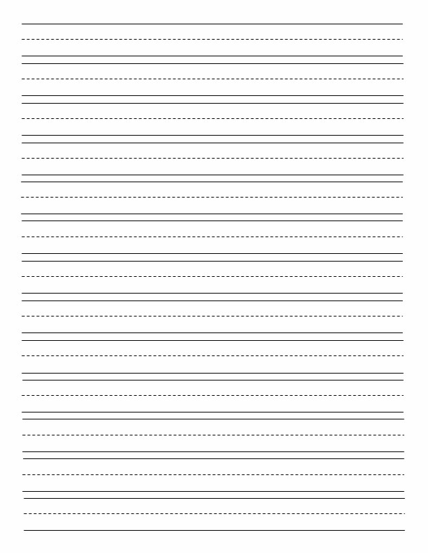 Printable story writing paper for kindergarten for Free printable lined paper template for kids