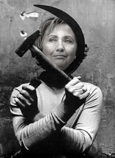 HillaryHammerSickleByTexasBeth