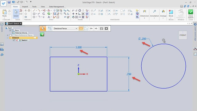 Dealing with 'Not to Scale' error while applying dimensions in Solid Edge