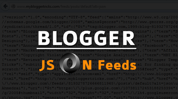 Blogger JSON Feeds - Introduction