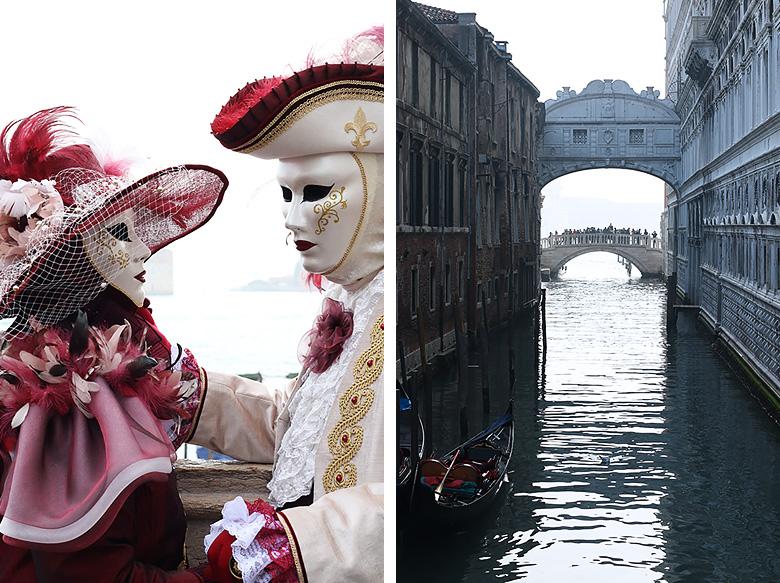 Le pont des soupirs durant le Carnaval de Venise.