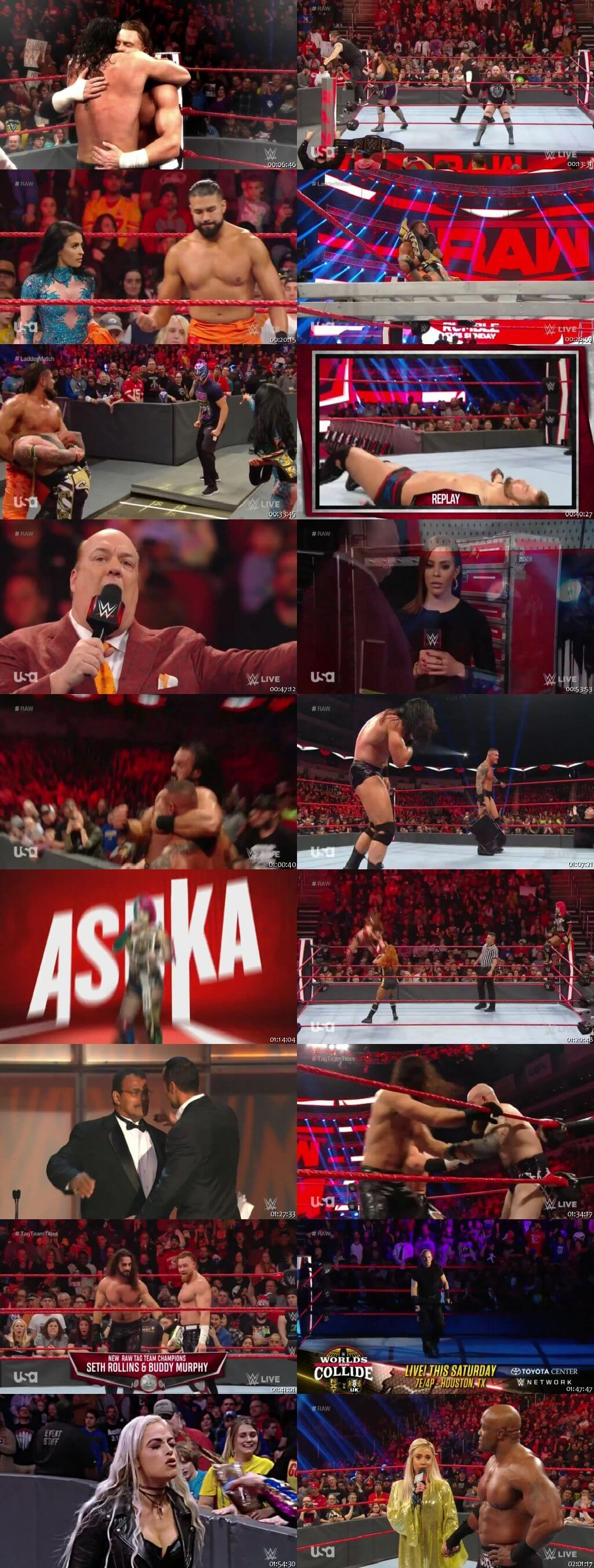 Screen Shot Of Wrestling TV Show WWE Monday Night Raw 20th January Watch Online Free Download