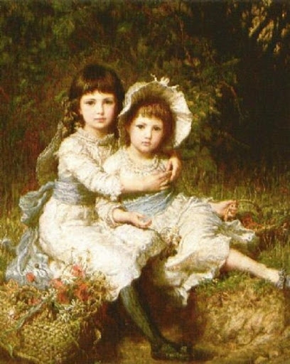Karl Wilhelm Friedrich Bauerle - Cecile And Adela, Children Of George Drummond