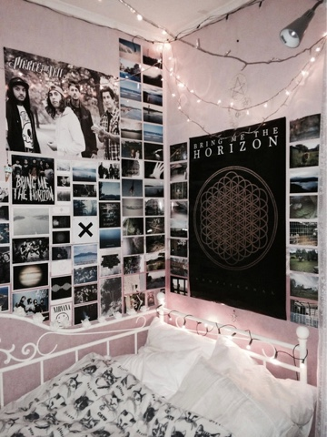 Transparent teen d i y tumblr worthy room - Cool wall decoration ideas for hipster bedrooms ...