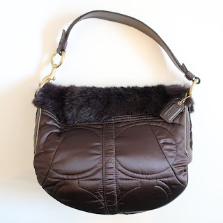 Coach Fur-Trimmed Hobo Bag