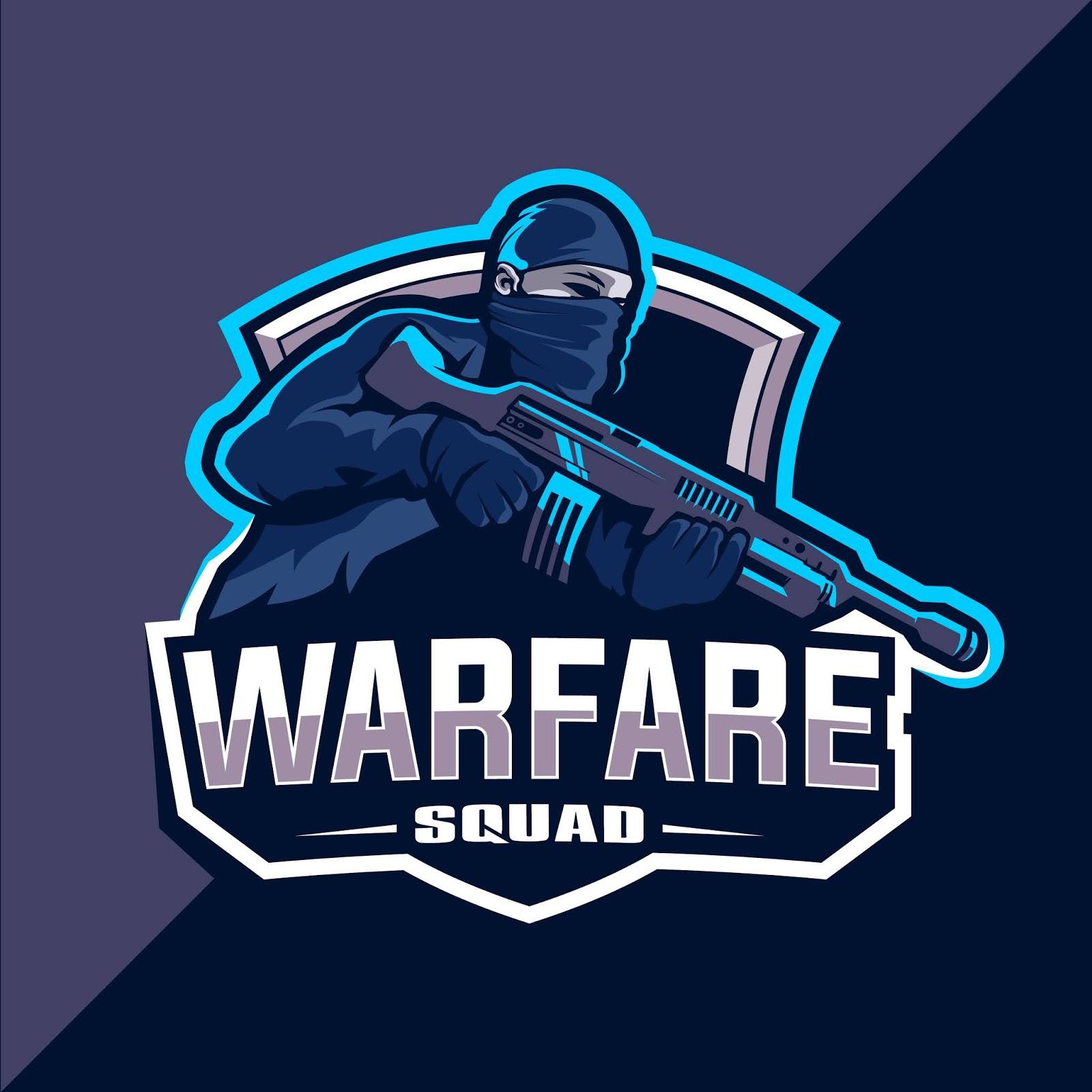 Warfare Squad Esport Logo Design Free Download Vector CDR, AI, EPS and PNG Formats