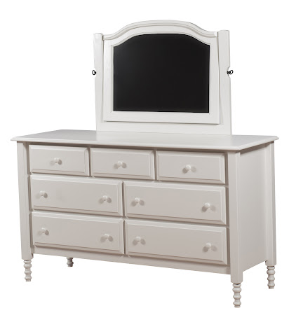 "62"" x 36"" Farmhouse Horizontal Dresser with Mirror, in Swiss Oak"