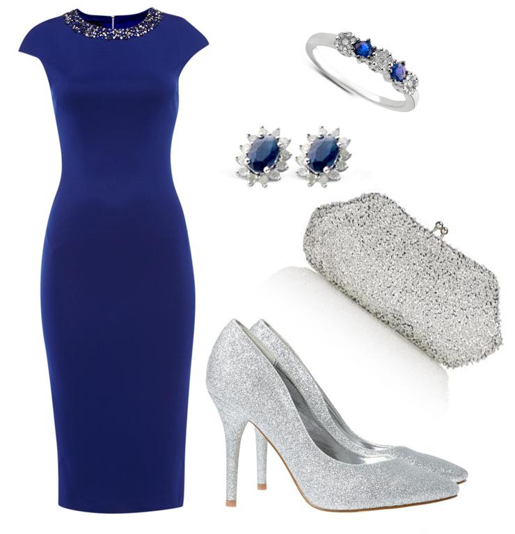 Ted baker kobalt blauwe jurk