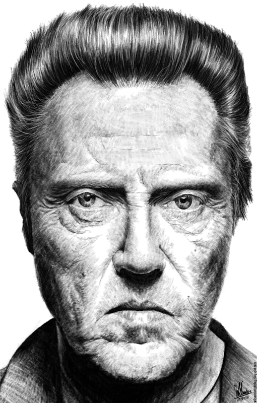 Pencil drawing of Christopher Walken, using Krita 2.7 Alpha.
