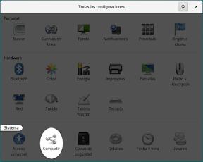 Configurar el sistema. Accesibilidad en Linux y otros. Compartir.