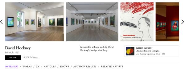 David Hockney Exhibtions