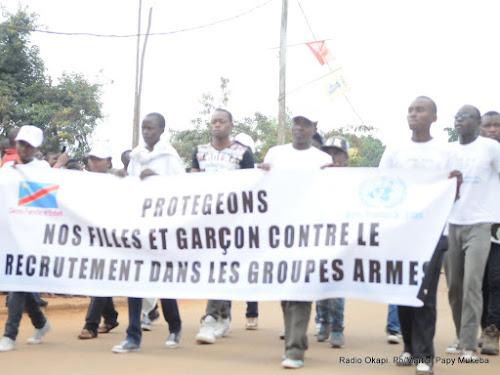 Sud-Kivu : campagne contre le recrutement des enfants dans les groupes armés à Sange