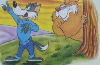 El lobo petulante y el león
