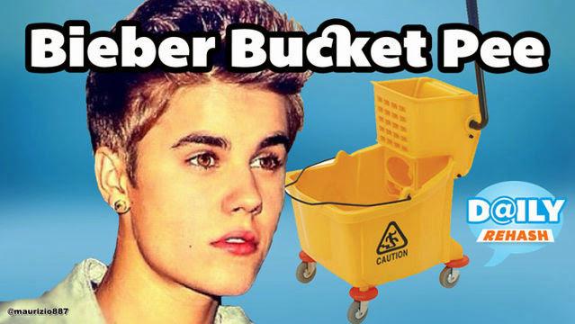 Justin Bieber apanhado a urinar em restaurante JB Pisses Into Restaurant Mop Bucket FU Bill Clinton