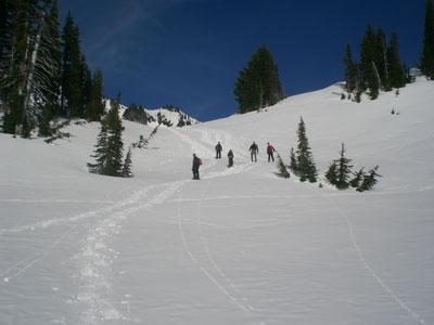 Descending from Edith Creek
