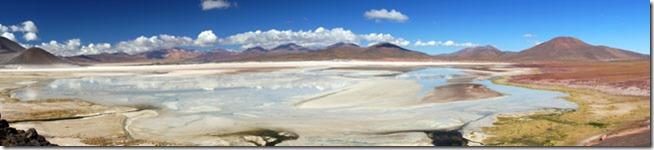 Salar de Talar no Deserto de Atacama - Panorâmica