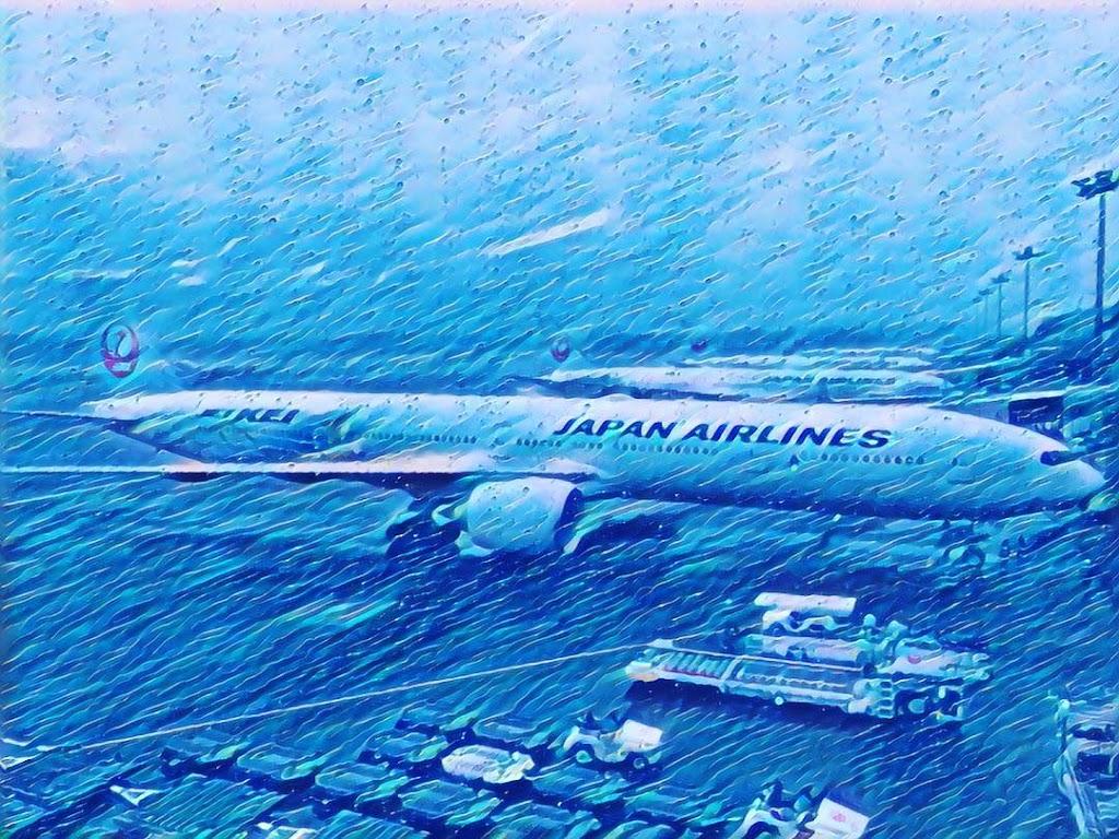 台風21号の影響がでる前に日本を発とうとしたが。。。
