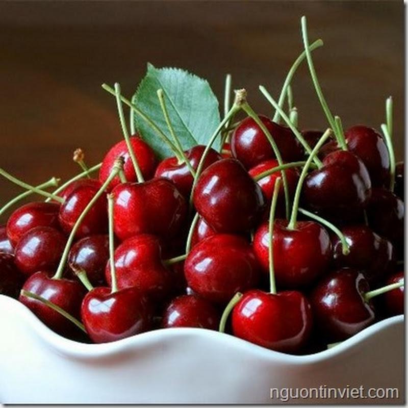 Ăn cherry cũng phải đúng cách kẻo ngộ độc.