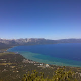 South Lake Tahoe from the Heavenly mid mountain observation deck