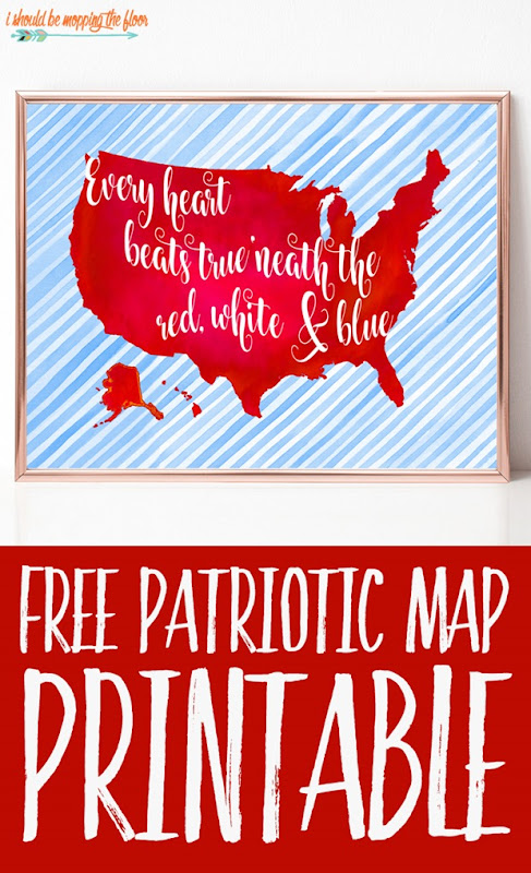 patriotic map printable