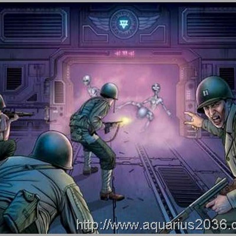 Alienígenas Greys e Humanos em Guerra na Base de Duce em 1979