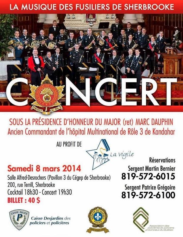 Concert de musique des Fusiliers de Sherbrooke / www.pompiersherbrooke.com