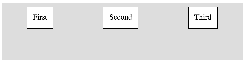 Horizontal Box with space around