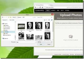 Ancestry.com has enhanced the photo upload experience
