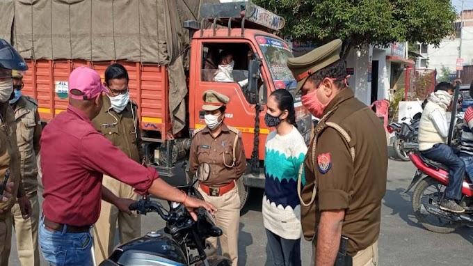 मैनपुरी: थानेदार बनी बेटी ने काटा पिता का चालान, पुलिस वालों ने की तारीफ