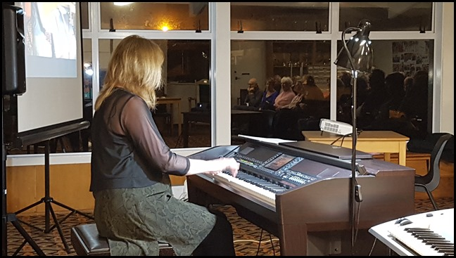 Our guest artist was Sandy Lynch who played our Yamaha Clavinova CVP-509 and also her own Yamaha Tyros 2 keyboard. Inspirational stuff! Sandy played requests for the second-half of her Concert and this was also really well received.