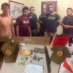 Rurópolis/PA: Elementos são presos acusados de tráfico de droga