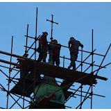 Oprava střechy kostela 21.10.2014