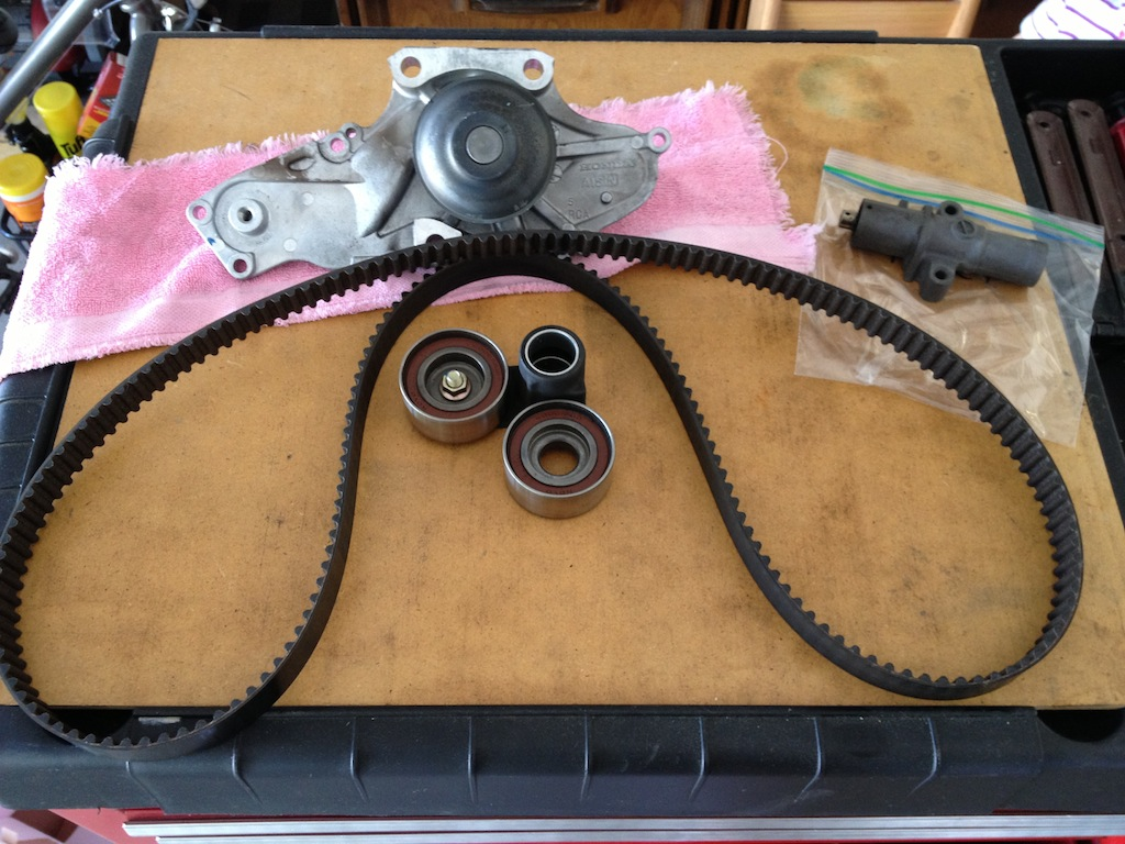 Timing Belt Replacement Bob Is The Oil Guy Gm Honda Advises That Be Changed Every 105000 Miles Or 7 Years Which Ever Comes First Our Car Has As Noted Before Less Than