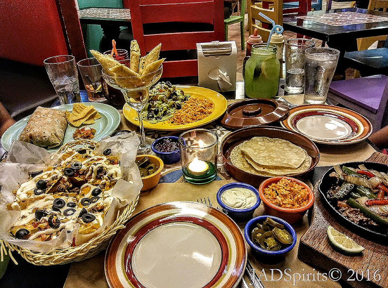 Our Finner Table at Spanglish with all the foods that we order