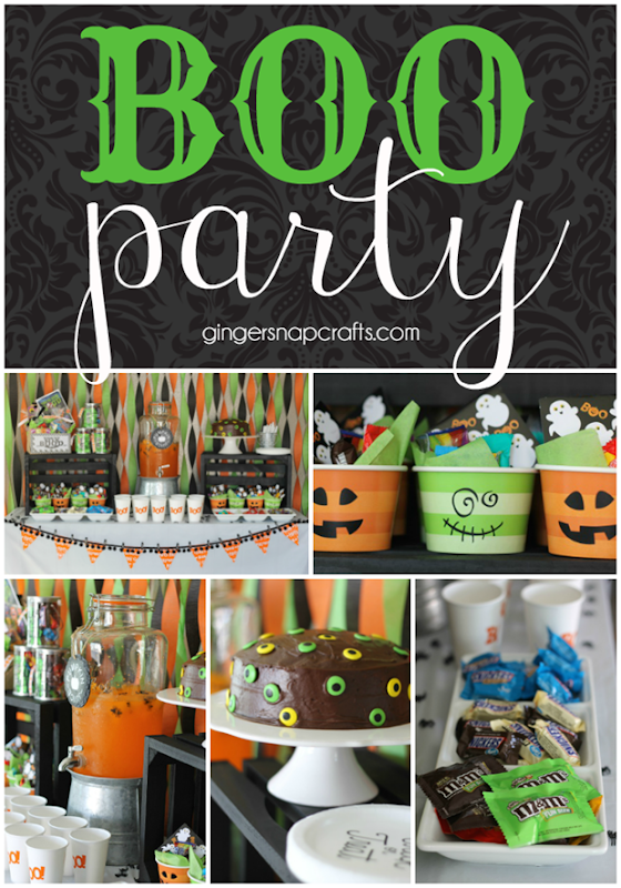 Boo Party at GingerSnapCrafts.com #halloween #boo #booitforward #partyideas