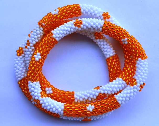 Orange white Bracelets