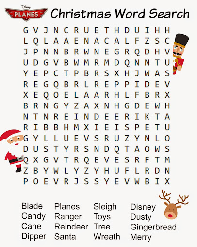 Free Printable Disney Planes Christmas Word Search #PlanesToTheRescue