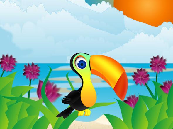 besplatne pozadine za desktop 1024x768 free download priroda životinje tukan plaža