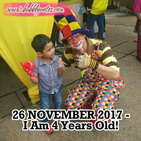 26 NOVEMBER 2017–I Am 4 Years Old!  (1)