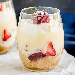 Individual Strawberry Trifle.