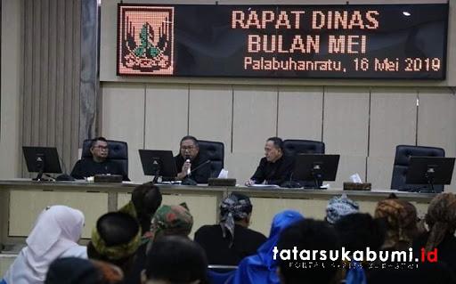 Rapat Dinas Bulan Mei 2019 Pemkab Sukabumi