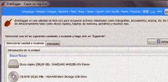 Recuperar archivos borrados por accidente con DiskDigger