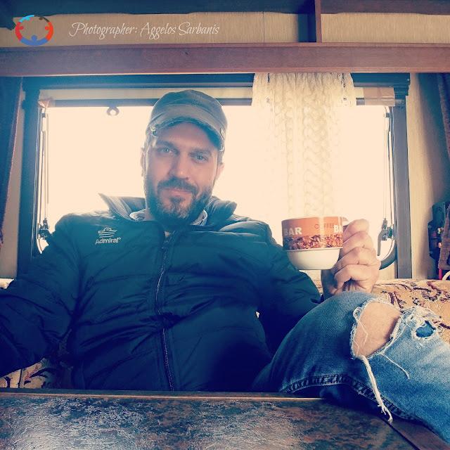 Η αίσθηση να πίνεις καφέ σε ένα τροχόσπιτο