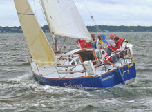 J/30 one-design cruiser racer- sailing upwind
