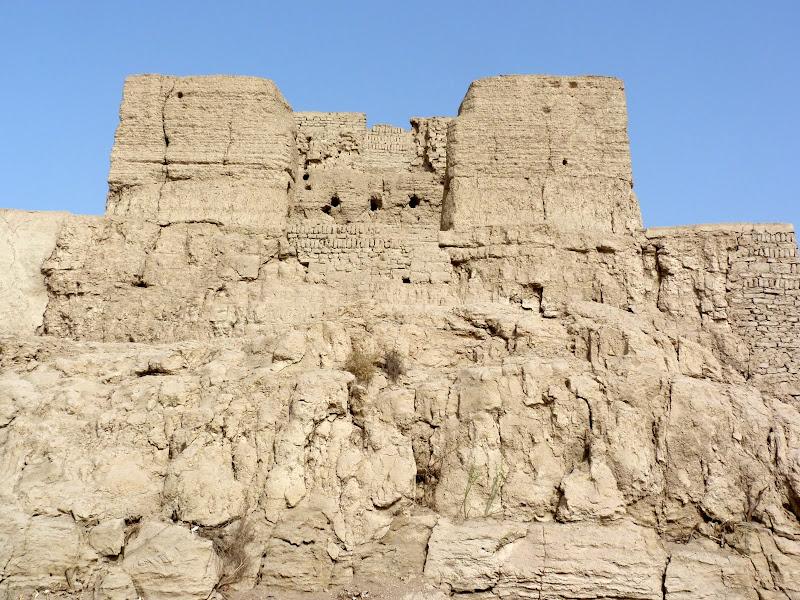 XINJIANG.  Turpan. Ancient city of Jiaohe, Flaming Mountains, Karez, Bezelik Thousand Budda caves - P1270816.JPG